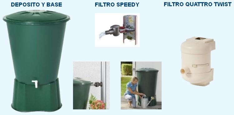 Cubas colectoras kit de recuperaci n de agua de lluvia - Recoger agua de lluvia ...