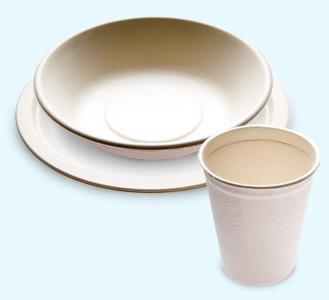 Juego de platos y vasos